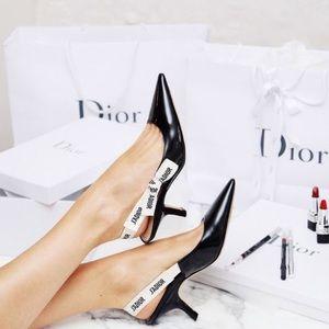 Christian Dior J'adior Patent Leather Slingback 39